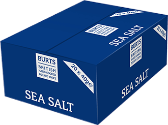 Burts Sea Salt potato chips case
