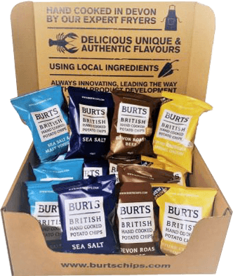 Case of Burts Crisps of assorted flavours