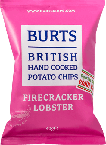 Packet of Burts Firecracker Lobster crisps
