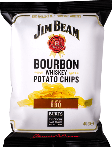 Packet of Burts Jim Beam® Bourbon BBQ crisps