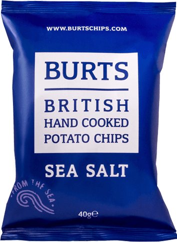 Packet of Burts Sea Salt potato chips