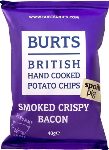 Packet of Burts Smoked Crispy Bacon potato chips