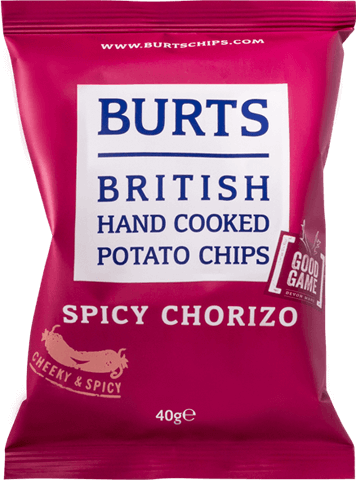 Packet of Burts Spicy Chorizo crisps