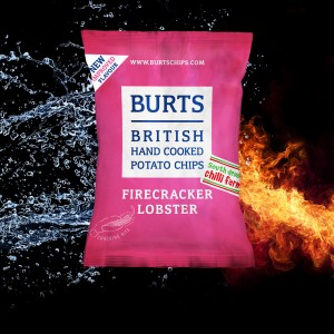 Burts Chips new and improved firecracker lobster